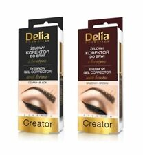 DELIA COSMETICS CREATOR EYEBROW GEL CORRECTOR WITH KERATIN BLACK AND BROWN