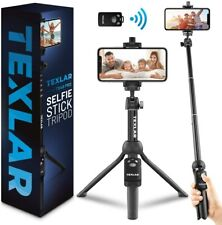 Texlar Selfie Stick Tripod Ts48 Pro With Remote - Extendable to 48 Inches
