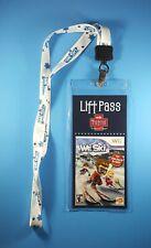 We Ski Nintendo Wii 2008 Video Game Employee Promo Lanyard Keychain Badge