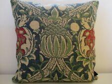 Sanderson William Morris Granada Linen & Blue Velvet Cushion Cover