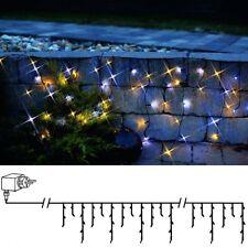 LED Eisregen Lichterkette 144er warmweiß-kaltweiß gemischt / schwarz  498-57