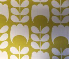 Orla Kiely Tulip In Dandelion Yellow FQ 50cm Square Flannel Cotton Fabric NEW