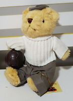 TEDDY BEAR COLLECTION PLUSH TOY ABOUT 19CM SEATED! GARY THE GOALKEEPER SOFT TOY!