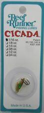 "REEF RUNNER CICADA BLADE BAIT LURE 1/16 OZ. 3/4"" GOLD/GREEN C1-202"