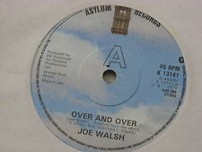 "Joe Walsh:  Over and Over  1978   7"" STUNNING NEAR MINT"