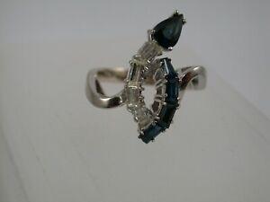 Traumhaft schöner Designer Brillant Saphir Ring Weißgold 750