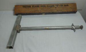 "Victor Flash Powder Lamp gun ""B"" 18""  With Box- Jas. H. Smith & Sons Co.Chicago"