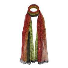Bufanda de mujer de color principal verde de seda