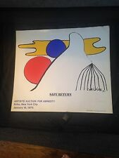 Signed Alexander Calder Print Lithograph - Artist's Auction for Amnesty
