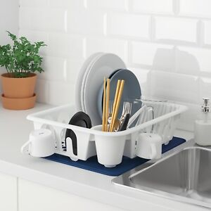 NEW IKEA Plastic Dish Rack Drainer Sink Cutlery Drying Holder Dryer Tray Kitchen