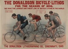France 250gsm A3 Belle Epoque Cycling Poster PANNETTON CYCLES circa 1890/'s