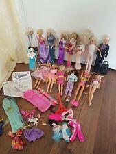Trabajo Vintage Lote De 14 muñecas Barbie y Sindy y Accesorios algunos raros