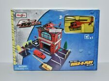 Maisto Fresh Metal Fire Station Build n Play Set Helicopter Construction Set