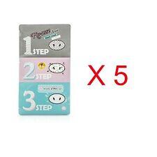 Holika Holika Pig Nose Clear Black Head 3-Step Kit (5 sheets )