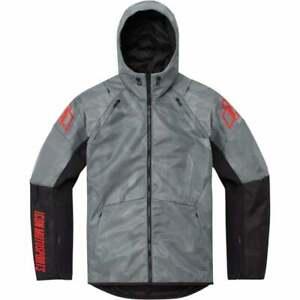 Icon Airform Battlescar Dual Sport Motor Bike Motorcycle Jacket - Grey