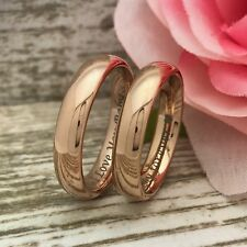 6mm His & Her Personalize Anniversary Ring,Tungsten Wedding Rings, Matching Sets