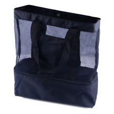 Beach Picnic Lunch Extra Large Mesh Tote Bag Handbag Double Layer Shopping