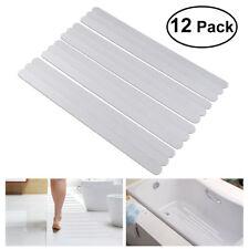Adhesive Bath Tub Shower Strips Anti Slip Tape Non Skid Vinyl Safety 12 pcs