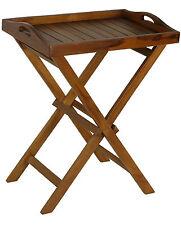Bare Decor Kalos Indoor/Outdoor Tray Table in Solid Teak Wood