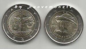 ITALIA  ITALY ITALIE 2016  2 EURO  DONATELLO + 2 EURO PLAUTO UNC da rotolino