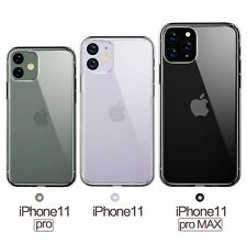 Clear Transparent Phone Case Bumper Cover for Apple i11, i11 Pro, or i11 Pro Max