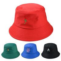 Embroidery Bucket Hat Foldable Cap Hip Hop Men Women Summer Panama Fishing  9H