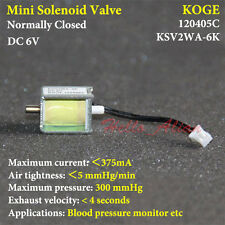 DC 6V 2-way Micro Mini Electric Solenoid Valve Normally Closed for Gas Air Valve