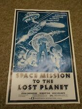 SPACE MISSION TO A LOST PLANT-LOT OF 10(1970) JOHN CARRADINE ORIGINAL PRESSBOOK+