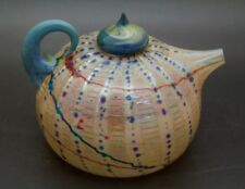 "RICHARD Australian Clements Art Glass Paperweight/Kettle/Teapot,Apr 3""Hx4.5""W"