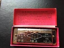 Vintage W. Kratt Pitch Pipe A-440 Made in Usa Original Box
