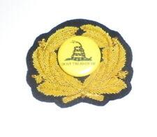 Don't Tread on Me Hat Cap Badge American Revolution Marines Oppression War Nwo X