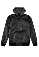 Burton Black PU Bomber With Hooded Bomber Jacket Size S Brand New RRP £55