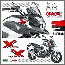 2x Black/Red NC700X Honda 2011-2015 PEGATINA AUTOCOLLANT STICKERS ADESIVI