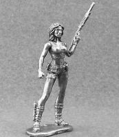 Military Girl 75mm metal figure 1/24 Miniature Tin Toy Soldiers