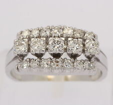 Brillant Ring in aus 14kt Weiß Gold mit Diamant Brillanten Brillantring Goldring
