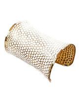 AMAZING WHITE GOLD LARGE BOHO HIPPIE CUFF BRACELET