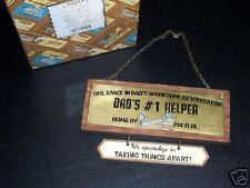 """Enesco Tools Of The Trade """"Dads #1 Helper Plaque"""" - Nib"""