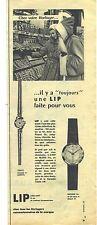 PUBLICITE ADVERTISING   1952   LIP montre femme GRACE & ENGHIEN or