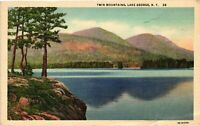 Vintage Postcard -White Border 1948 Twin Mountains Lake George New York NY #4231