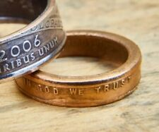 US Penny Coin Ring. Currency Ring