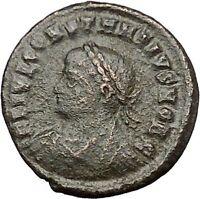Constantius II  Constantine the Great  son 324AD Ancient Roman Coin Gate i50795