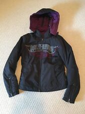 Harley Davidson Womens Reversible Jacket Purple and Black Size S 97436-08VW