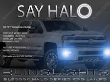 Blue Angel Eye Halo 70W Fog Lamps Driving Lights Kit for 2014-2017 GMC Sierra
