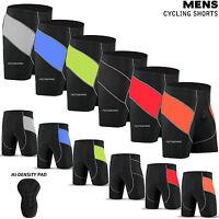 NEW Mens Cycling Shorts Tights MTB Cycle Bicycle Hi-Density Padded All Size