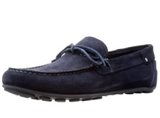 Geox Respira U Giona D Mens UK 8 Navy Blue Suede Moccasin Loafer Driving Shoes