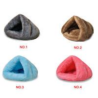 Pet Cat Dog Nest Bed Soft Warm Cave House Sleeping Bag Mat S L Puppy Fluff Bed