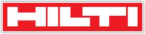 """Hilti Tools Power Tool Red Car Bumper Window Tool Box Sticker Decal 8""""X2"""""""