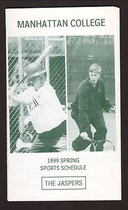 Manhattan Jaspers--1999 Softball/Tennis/Spring Sports Schedule