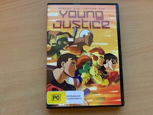 Young Justice Season 1 Volume One Animated TV Series Robin Superboy (DVD, 2012)