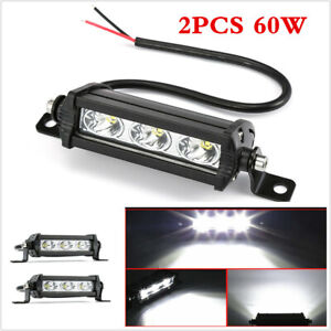 2X White 3LED 30W LED Car Fog Light SUV Truck Offroad Driving LED Work Spot Lamp